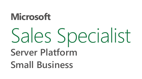 Microsoft Partner Logo Sales Specialist Server Platform und Small Business
